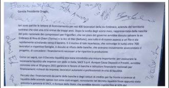 """I lavoratori Embraco licenziati dopo anni di promesse scrivono a Draghi: """"Intervenga sulle banche per sbloccare i finanziamenti"""""""