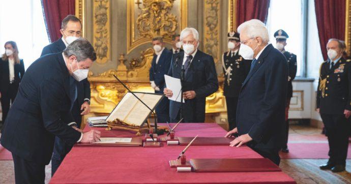 In Edicola sul Fatto Quotidiano del 14 Febbraio: Conte lascia a Draghi e prepara il ritorno. Nuovo governo