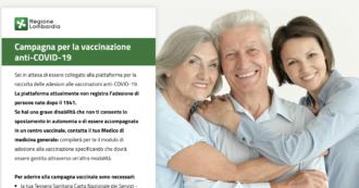 Vaccini Lombardia, prenotazione a singhiozzo per gli 80enni. Partenza con sistema in tilt, a fine giornata superate le 160mila adesioni