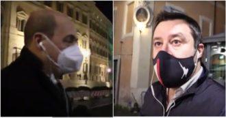 """Governo, incontro tra Zingaretti e Salvini. Il leader leghista: """"Abbiamo parlato di lavoro e blocco dei licenziamenti"""""""