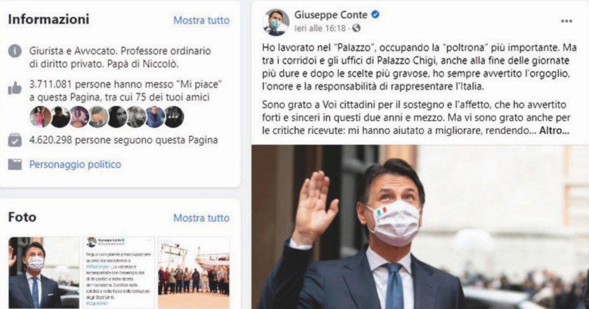 Conte, l'ultimo post batte tutti i record della politica social