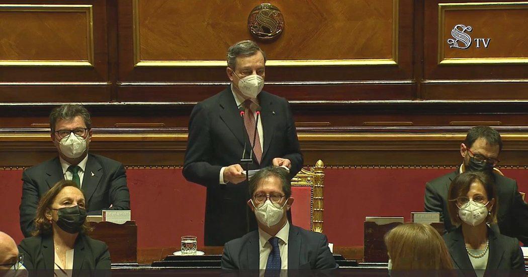 Dallo stop a Salvini sull'euro alla continuità con Conte sul Recovery. E poi misure per i lavoratori e sostenibilità. I punti del discorso di Draghi