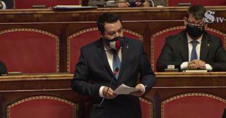 """Salvini insiste con Tav e ponte sullo Stretto. E sull'Europa replica a Draghi: """"Vogliamo quella del benessere, non dei tagli"""""""