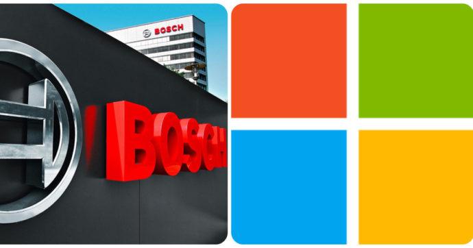 Bosch e Microsoft, parte una collaborazione su software e Cloud per autoveicoli