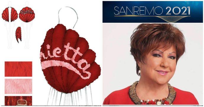 Sanremo 2021, Orietta Berti sul palco dell'Ariston con i look creati per lei dallo stylist di Achille Lauro