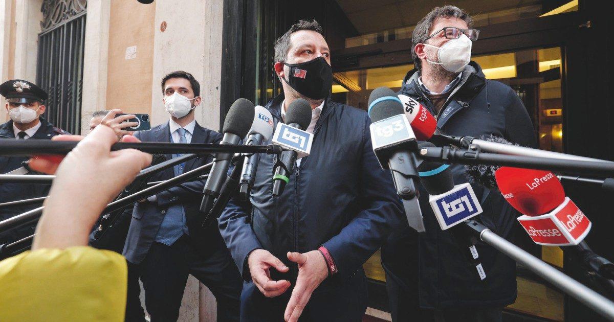 Salvini, B. e Meloni: il governo Draghi ingrassa tutta la destra
