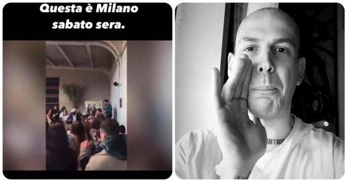 """Party con Belen (senza mascherina) al """"Sanctuary"""" di Milano: 400 persone, molti vip. Gemitaiz furioso: """"Fricchettoni cocainomani, merd*"""""""