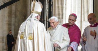 """Benedetto XVI: """"Non ci sono due Papi, il Papa è uno. Dimissioni? Credo di aver fatto bene"""""""