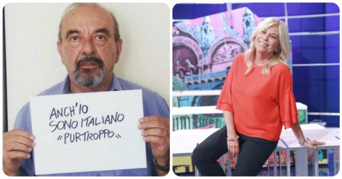 """Rita Dalla Chiesa contro Vauro Senesi: """"Cambia nazionalità così avremo un 'italiano' come te in meno"""". Ma c'è un errore"""