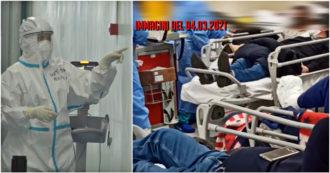 """Napoli, l'impennata dei contagi e la pressione sugli ospedali. Il Pronto soccorso del Cardarelli sovraffollato: """"Per passare sposto le barelle"""" – Video"""
