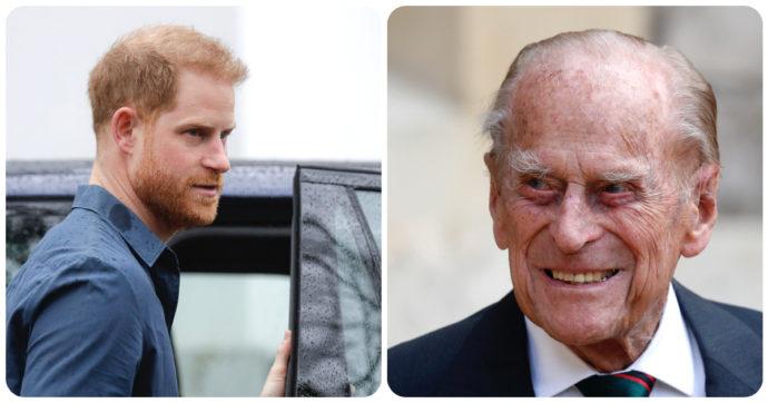 """Principe Filippo, Harry era stato richiamato a Londra """"per dare al nonno l'ultimo saluto"""". Ma non si è mosso dagli Usa"""