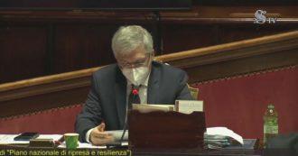 Recovery Fund, la prima audizione del ministro Franco sospesa dopo pochi minuti per problemi tecnici: caos tra i parlamentari – Video