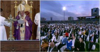 En Erbil, el Papa celebró la mayor misa de su viaje histórico: