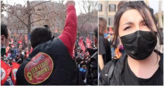 """Sindacalisti arrestati e perquisiti dopo scioperi, lavoratori della logistica in piazza: """"Prima della loro lotta contratti da 5 euro all'ora"""" – Video"""