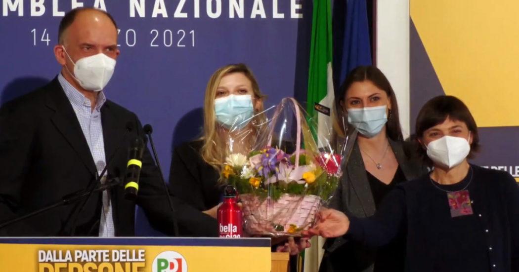 """Enrico Letta: """"Pd sia in coalizione, dialogo con M5s guidato da Conte"""". L'ex premier: """"Impegno comune"""". I temi del segretario: stop ai paradisi fiscali in Ue, Ius soli, voto a 16enni"""