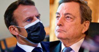 """Astrazeneca, telefonata Draghi-Macron: """"Pronti a ripartire subito con vaccinazioni se arriva il via libera di Ema"""""""
