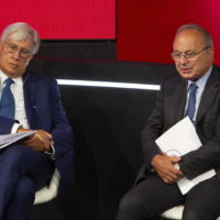 GAETANO STELLA PRESIDENTE CONFPROFESSIONI CESARE FUMAGALLI SEGRETARIO GENERALE CONFARTIGIANATI