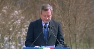 """Giornata della memoria delle vittime del Covid, Draghi: """"Il Paese vuole rialzare la testa e ripartire. Lo Stato c'è e ci sarà"""""""