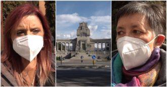 """Draghi a Bergamo, i familiari delle vittime del Covid: """"Le passerelle le abbiamo già avute, ora ascoltateci. Dopo un anno non è cambiato nulla"""""""