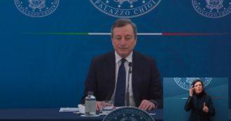 Decreto sostegni, la conferenza stampa del premier Draghi con i ministri Franco e Orlando: segui la diretta tv