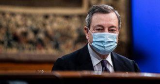 """Draghi: """"Sì, è un condono. Necessario perché lo Stato non ha funzionato"""". Così il premier su stralcio cartelle dopo le tensioni in Cdm"""