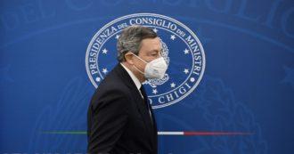 """Decreto Sostegni, Draghi: """"11 miliardi alle imprese, pagamenti dall'8 aprile"""". Altri 8 per lavoro e lotta alla povertà, 5 per i vaccini"""
