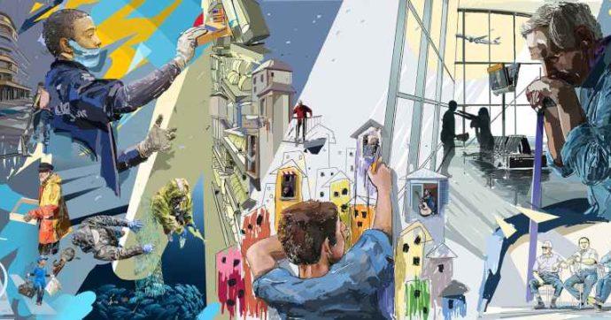 Street Art, a Milano un murales rende omaggio ai lavoratori in prima linea: i sanitari, i braccianti e commessi dei supermercati