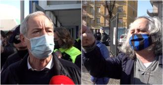 """Bertolaso contestato a Codogno: """"Vergogna, dimettiti"""". Lui risponde a chi lo critica: """"Mi chiamo Guido, il disguido accade"""""""