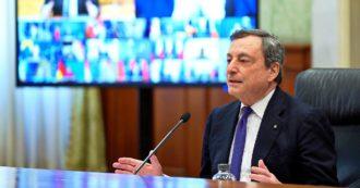 """Draghi al vertice Ue: """"Europei ingannati da alcune case farmaceutiche"""". Appoggio alla proposta di una stretta sull'export dei vaccini"""