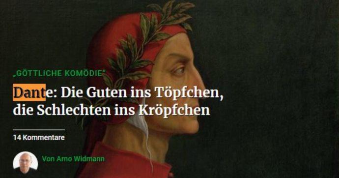 """Dante """"arrivista e plagiatore""""? Ecco cosa c'è scritto davvero sul giornale tedesco a cui ha risposto il ministro Franceschini"""