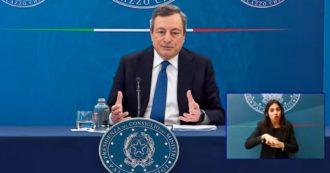 """Draghi: """"Scuole fino alla prima media non sono fonte di contagio solo se rimangono tutte le altre restrizioni"""""""