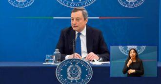 """Draghi replica a Salvini: """"Chiusure sono pensabili o impensabili solo in base ai dati dei contagi. Le misure non sono campate per aria"""""""