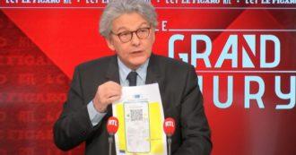"""Covid, il commissario Ue Breton: """"Passaporto sanitario Ue dal 15 giugno. Vaccini sufficienti per immunità di gregge a metà di luglio"""""""