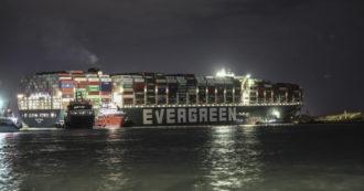 """Suez, dopo i tentativi falliti si tenta ancora di liberare la Ever Given. Al- Sisi: """"Siamo pronti a scaricare i container"""""""