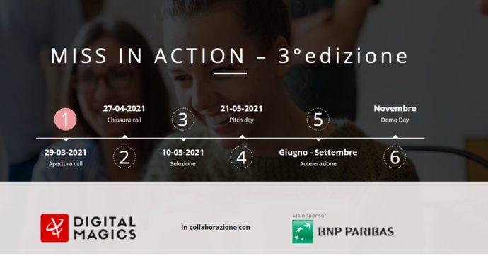 Imprenditoria femminile, Bnp Paribas e Digital Magics lanciano la terza edizione di Miss in Action: aperto anche alle studentesse