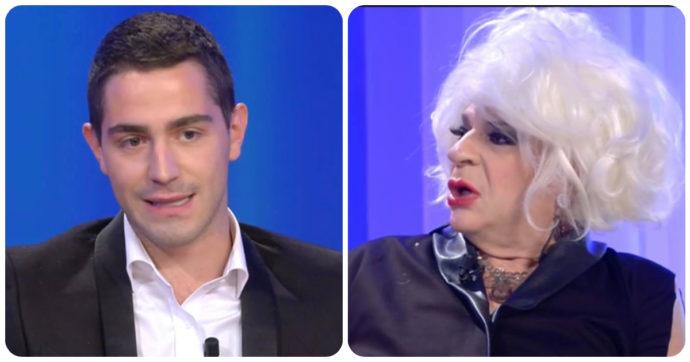 """Maurizio Costanzo Show, scoppia la lite tra Platinette e Tommaso Zorzi: """"Vuoi darmi due sberle?"""""""