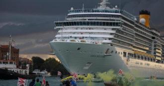 """Venezia e grandi navi, il nuovo decreto non soddisfa le associazioni: """"Le imbarcazioni escono dal bacino di San Marco ma restano in laguna"""""""