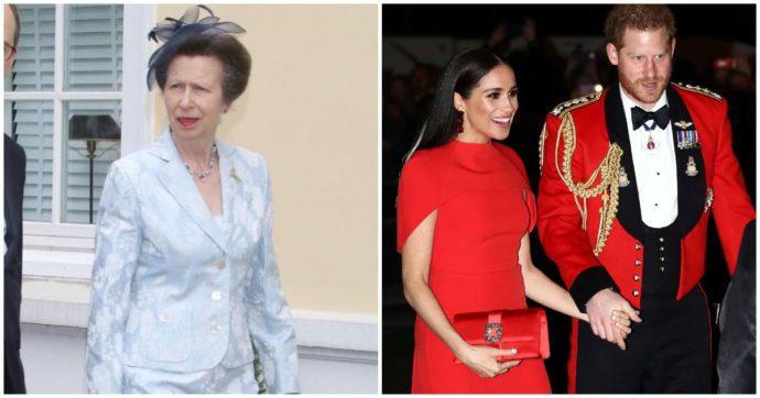 """È la principessa Anna quella 'razzista' a Buckingham Palace. Harry e Meghan si riferivano a lei"""