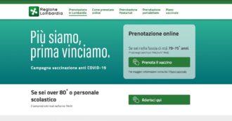 Lombardia, al via le prenotazioni del Vaccino Covid sul portale di Poste: ecco come funziona