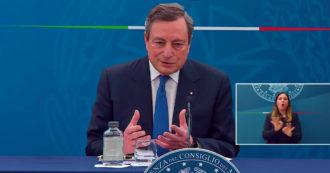 """Draghi e gli attacchi di Salvini a Speranza: """"Gli ho detto che l'ho voluto io nel governo, lo stimo molto"""" – Video"""