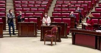 Ο πρόεδρος αρνήθηκε στο von der Leyen, το Δημοκρατικό Κόμμα τοποθετεί μια κενή πολυθρόνα στο κέντρο της Αίθουσας.  Λορενζίνη:
