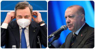 """Sofagate, l'Ue si defila dalla polemica Draghi-Erdoğan: """"Non sta a noi giudicare le persone"""". """"No comment"""" della Germania"""