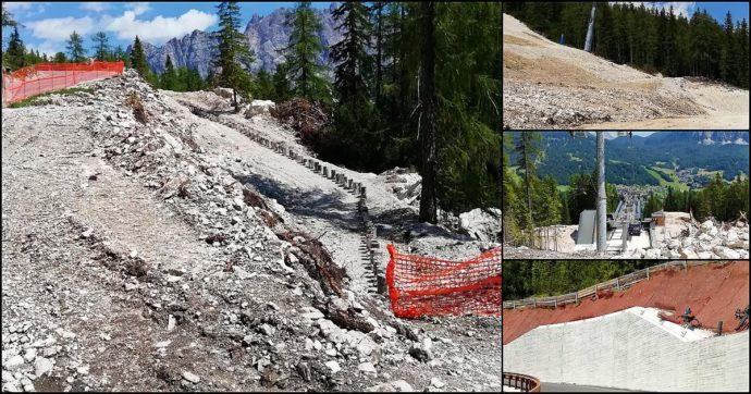 """Olimpiadi Milano-Cortina, gli ambientalisti in Veneto: """"Tra impianti e pista da bob, altro che impatto zero. Guardate gli effetti dei Mondiali"""""""