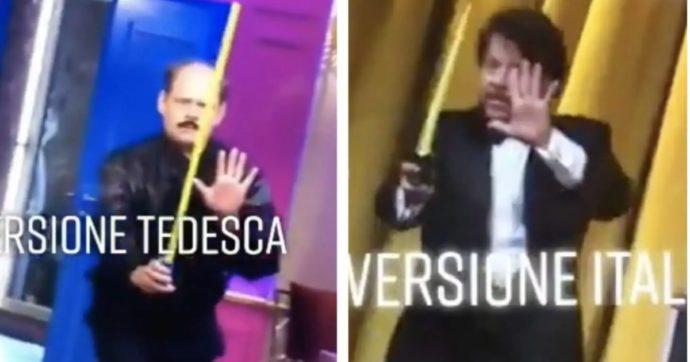 """Lol, la """"Gioconda umana"""" di Elio e la gag di Lillo sono le stesse della versione tedesca del programma: scoppia il caso"""
