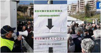 Basilicata, vaccini senza prenotazione per tre giorni: caos e centinaia di over 60 ammassati in coda davanti all'hub