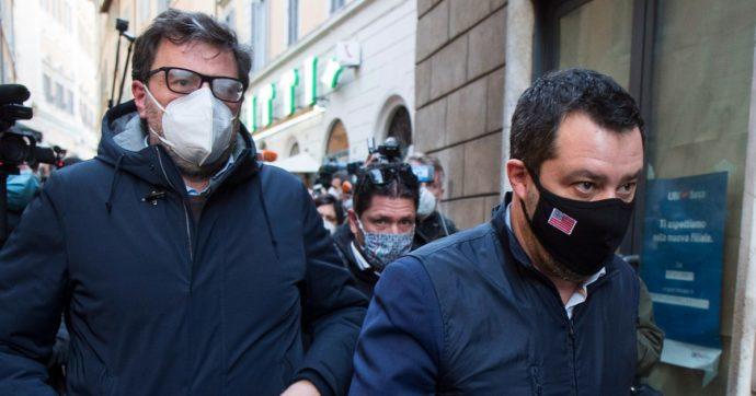 """Lega, Salvini e Giorgetti agli antipodi. """"Corteo ristoratori da autorizzare, riaprire ad aprile"""". """"A maggio, grazie a chi è civile nelle difficoltà"""""""