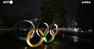 Tokyo 2020, la città festeggia i 100 giorni dall'inizio delle Olimpiadi: ecco le installazioni luminose nella capitale – Video