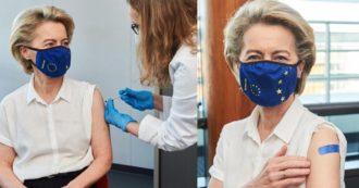 Commissione Ue, la presidente Ursula von der Leyen vaccinata con Pfizer in Belgio