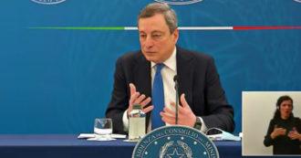 """Draghi: """"Zona gialla anticipata al 26 aprile? Il governo ha preso un rischio ragionato"""""""
