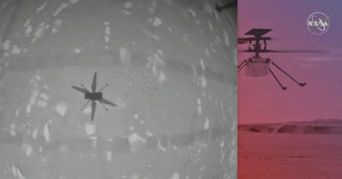 """Marte, la prima volta del drone-elicottero Ingenuity della Nasa: """"Il volo è stato un successo"""". Le immagini"""